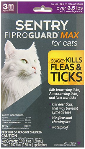 FiproGuard Max 3-Month Cats Over 8 Week, Purple by Fiproguard