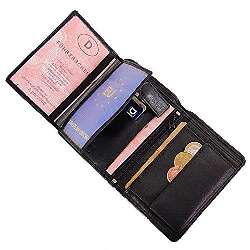 Branco Herren Leder Geldbörse Portemonnaie Geldbeutel 9,5x13x1,5cm GB 12052