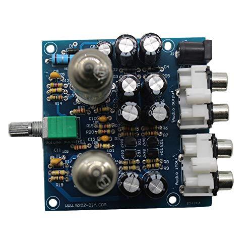 DDIY 6J1 Valve Preamp Buffer DIY Kits Tube Amplifiers Audio Board preamplifier Pre-Amp Amplifier Audio Board (Preamplifier Stereo Kit)