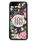 iPhone 6 6S Case, Simply Customized Phone Case Compatible iPhone 6 6S [4.7 inch] Floral Roses Monogram Monogrammed Personalized IP6S