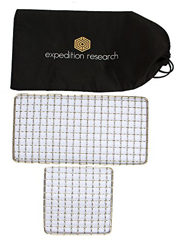 (Expedition Research LLC Combo 2-Pack - The Original Bushcraft Grill - Welded Stainless Steel High Strength Mesh (Campfire Rated))