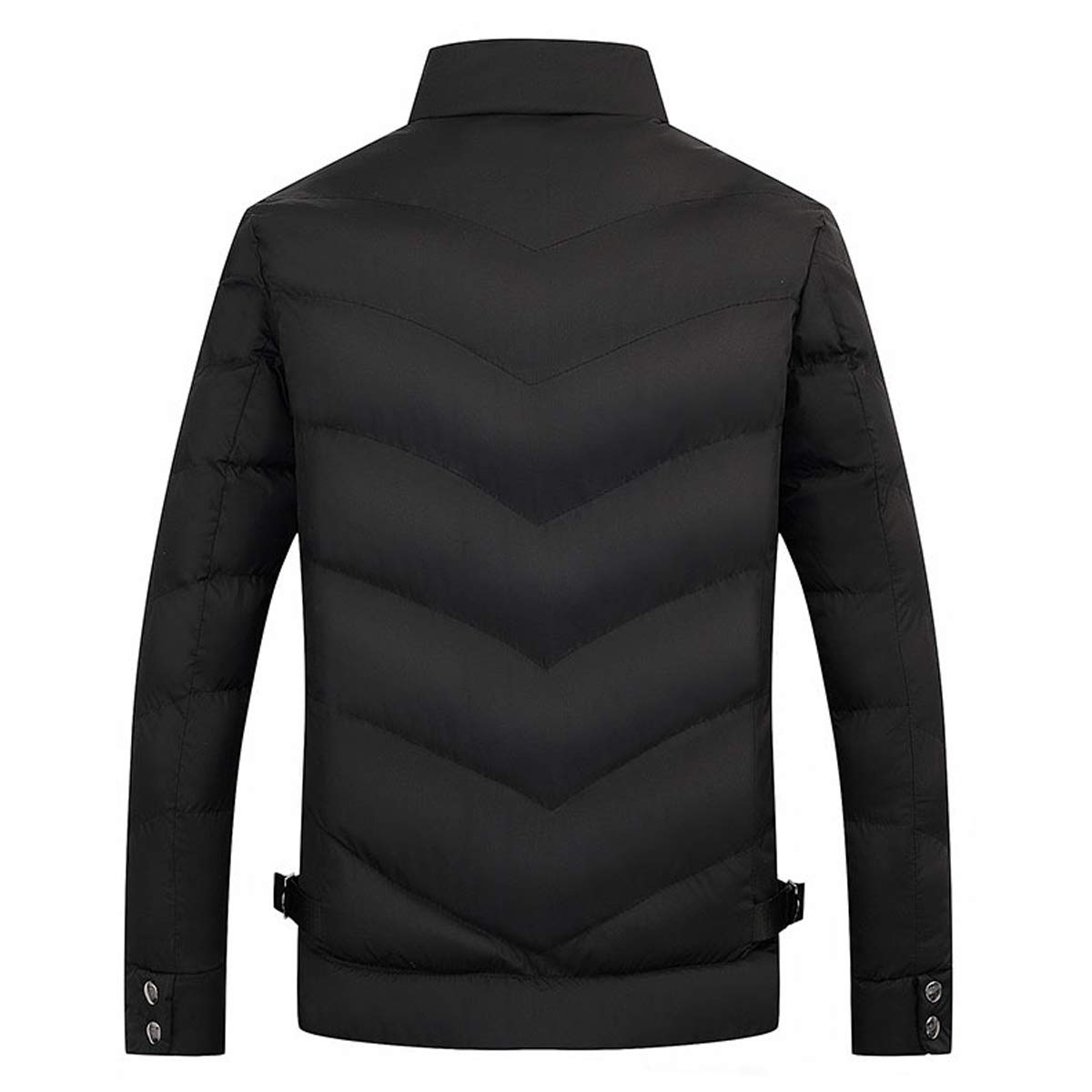 Mens Packable Stand Collar Down Jacket Windproof Winter Outerwear Coat