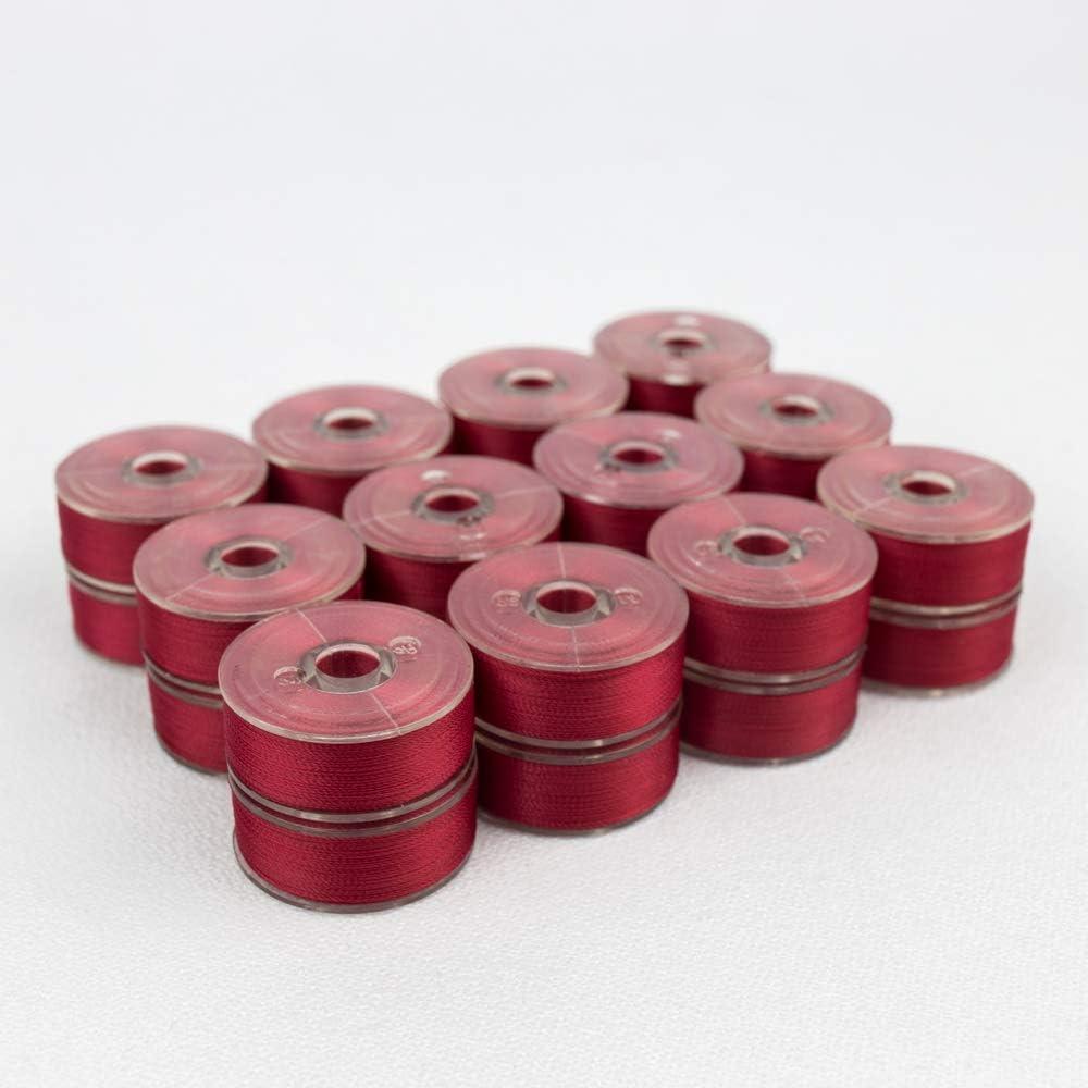 Pre-Wound Bobbins DecoBob Raspberry Size L WonderFil Specialty Threads