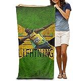 SHUIZHUYU Adults Usain Bolt Fast As Lifhtning Beach Towel / 31.5'' * 51.2''