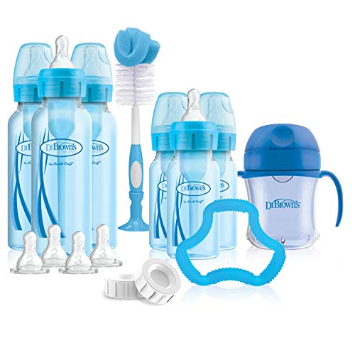 Dr. Brown's Options+ Baby Bottles Gift Set, Blue (Gift Blue Set)