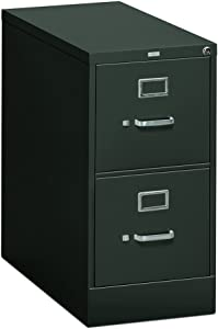 The HON Company Office Filing 310 Cabinet, 2-Drawer, Charcoal