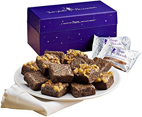 Fairytale Brownies Sugar-Free Magic Morsel Dozen Gourmet Food Gift Basket Chocolate Box - 1.5 Inch x 1.5 Inch Bite-Size Brownies - 12 Pieces (Non Food Gift Baskets)