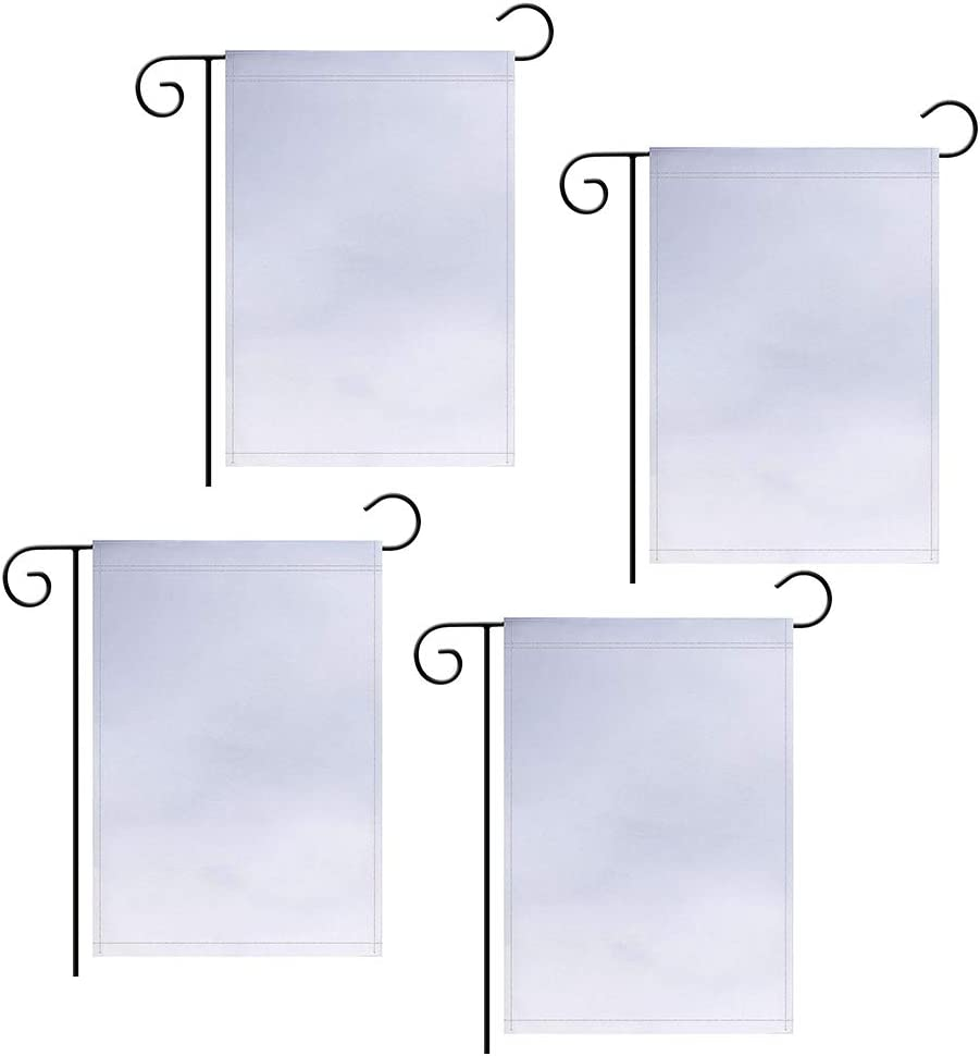 """GoShell 4 PCS Blank Garden Flag, Three Layer Double Sided Polyester DIY Flags,Outdoor Garden Parade Banner Decor Flags Flags,12""""x 18"""", White"""
