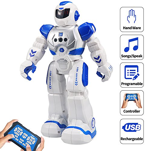 Robot Toys For Kids (Sikaye RC Robot for Kids Intelligent Programmable Robot with Infrared Controller Toys, Dancing, Singing, Led Eyes, Gesture Sensing Robot Kit,)