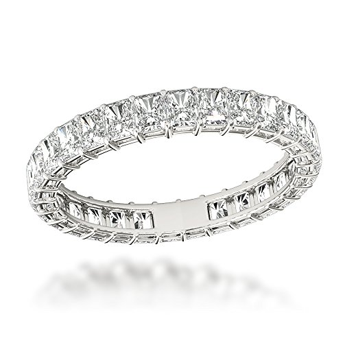 Ladies Platinum Radiant Cut Diamond Eternity Band 2ctw G-H color (Size 4.5) Radiant Cut Diamond Eternity Band