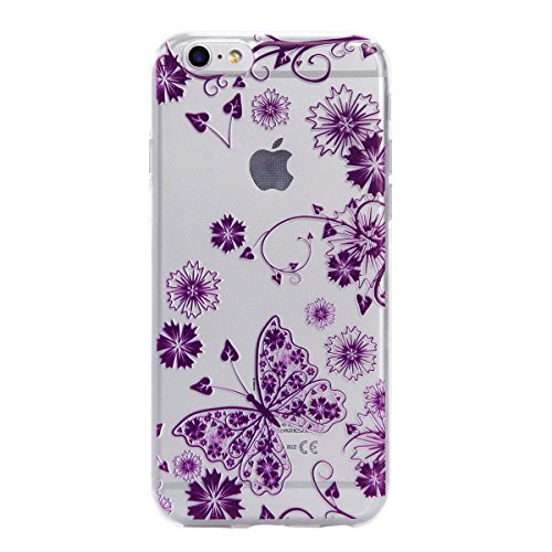 Voguecase® Pour Apple iPhone 6 Plus/6S Plus 5,5, TPU avec Absorption de Choc, Etui Silicone Souple Transparent, Légère / Ajustement Parfait Coque Shell Housse Cover pour iPhone 6 Plus/6S Plus 5,5 (Den