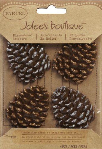 (Jolee's Boutique EK Success Glittered Edge Pinecone Dimensional Embellishments)