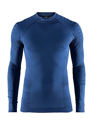 Craft Sportswear Men's Active Intensity Running and Training Fitness Workout Outdoor Sport Base Layer Long Sleeve Shirt, Maritime, X-Large