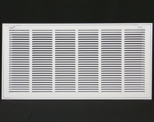 30'' X 12 Steel Return Air Filter Grille for 1'' Filter - Removable Face/Door - HVAC DUCT COVER - Flat Stamped Face - White [Outer Dimensions: 32.5''w X 14.5''h] by HVAC Premium