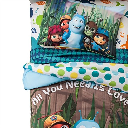 Beat Bugs Twin Comforter and Sheet set - Blue Set Sheet Bug