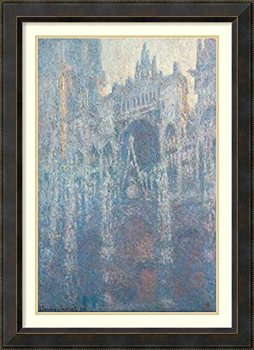 Framed Wall Art Print The Portal of Rouen Cathedral in Morning Light by Claude Monet 28.12 x 38.88