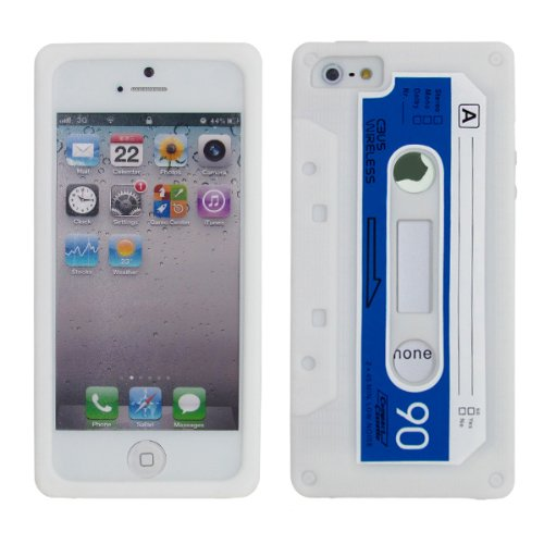 cbus-wireless-white-blue-silicone-cassette-tape-case-skin-cover-for-apple-iphone-se-5-5g-5s