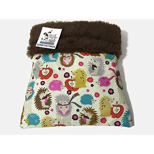 (Hedgehog Snuggle Sack Sugar Glider Bag Burrow Bed Guinea Pig Bedding Size 9x9 Washable Seamless)