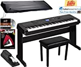 Yamaha DGX-660 Digital Piano - Black Bundle with Furniture Bench,...