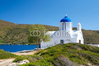 druck-shop24 Greek Small Orthodox Church in Cyclades Island #43301160 - Imagen sobre Lienzo, póster fotográfico, Aluminio Dibond, Vidrio acrílico, Placa Forex, lámina Adhesiva: Amazon.es: Juguetes y juegos