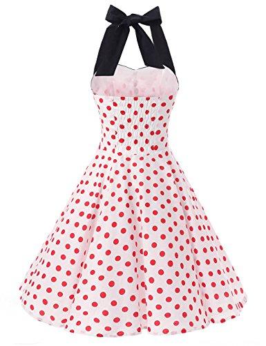 Vkstar Vintage Kleider Damen 50er 60er Blumenstoffdruck Abendkleider