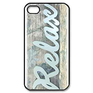 TYH - Cheap phonecase, Funny quotes, Keep relax picture for black plastic iphone 4/4s case ending phone case