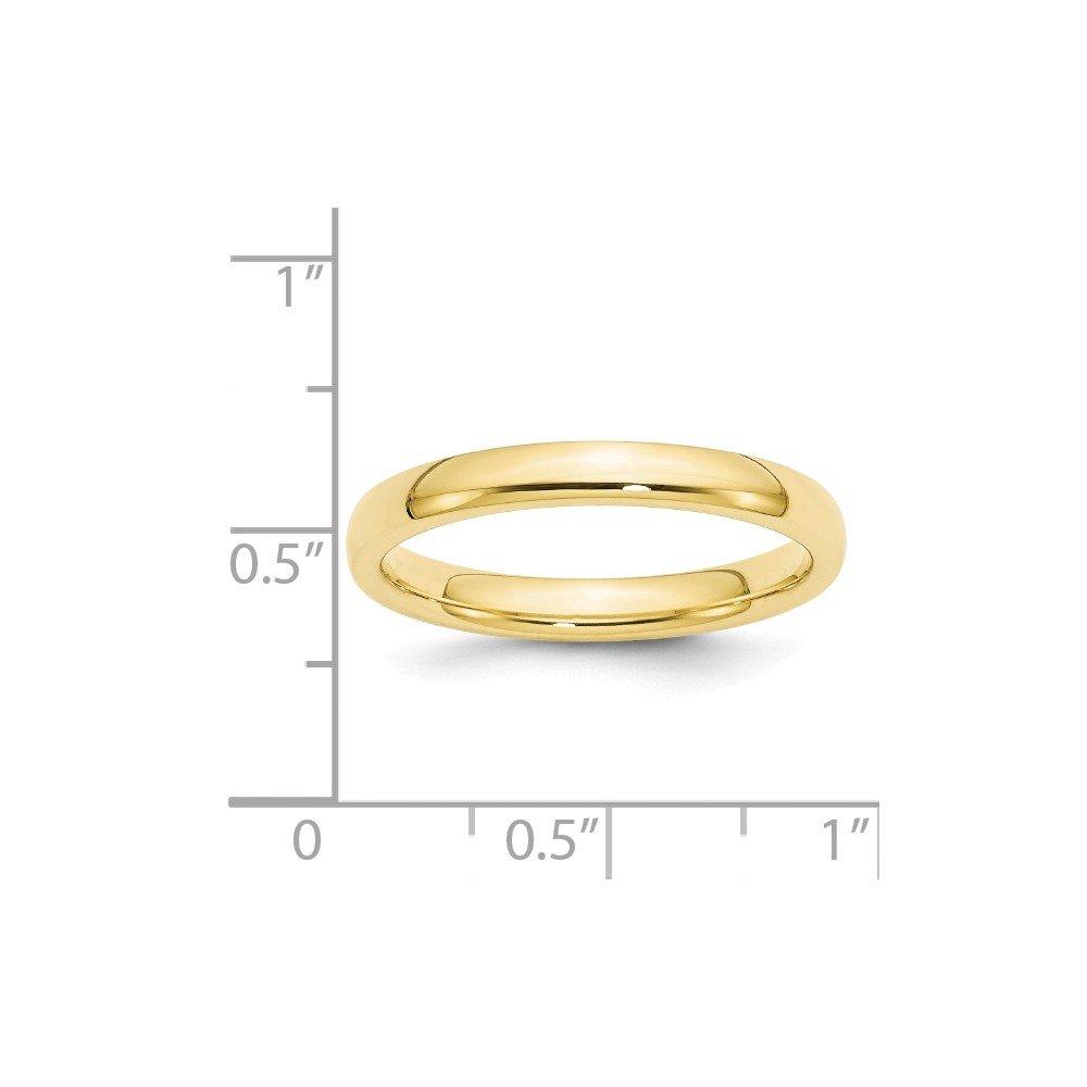 10k Yellow Gold 3mm Standard Comfort Fit Mens Womens Wedding Anniversary Band