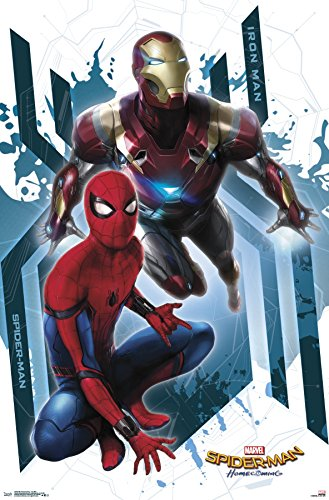 "Trends International  Spider-Man Homecoming Iron Man Wall Poster 22.375"" x 34"""