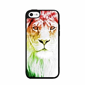 Trippy Lion Plastic Phone Case Back Cover iPhone 5 5s