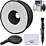 Precision Design PD-SBR Ring Soft Box Hot Shoe Flash Diffuser with Camera Cleaning Kit