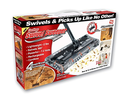 Cordless Swivel Sweeper – Original As Seen on TV by Swivel - Sweeper Battery Powered