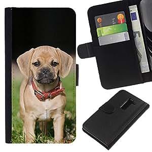 All Phone Most Case / Oferta Especial Cáscara Funda de cuero Monedero Cubierta de proteccion Caso / Wallet Case for LG G2 D800 // Beagle Pug Puggle Puppy Dog Breed