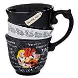 Disney Parks Exclusive Alice in Wonderland Triple Stack Quotes Ceramic Cup Mug