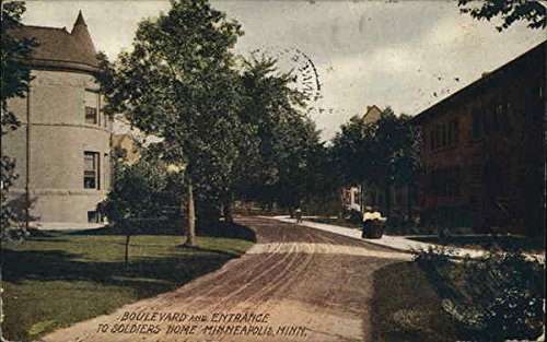 Boulevard and Entrance to Soldiers Home Minneapolis, Minnesota Original Vintage Postcard