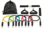 #7: Tribe 11pc Resistance Band Set - with Door Anchor, Handles, Ankle Straps - Stackable Up To 80lbs - For Resistance Training, Physical Therapy, Home Workouts