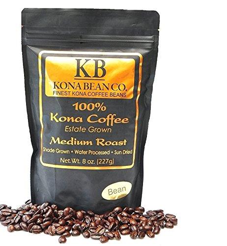 Kona Coffee Beans  1 Pound Kona Bean Co  Extra Fancy Estate Grown 100  Kona Coffee   Hawaiian Kona Coffee   1 Lb Total  Medium Roast  Whole Bean Coffee