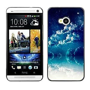 Brewing Tormentas - Metal de aluminio y de plástico duro Caja del teléfono - Negro - HTC One M7