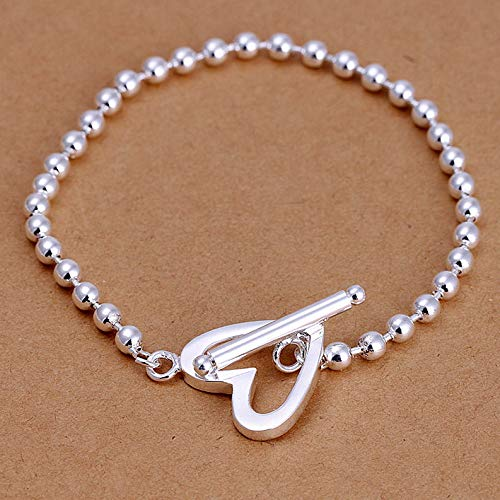 Florance Jones Wholesale Sterling Solid Silver Fashion Jewelry Charms 4mm Ball Bracelet XLSB173 | Model BRCLT - 964