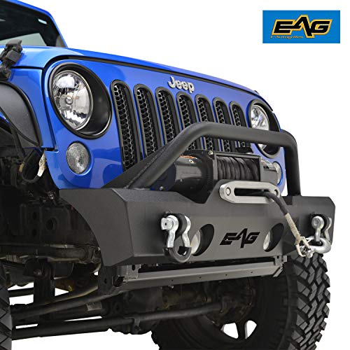 EAG Stubby Front Bumper with Fog Light Holes