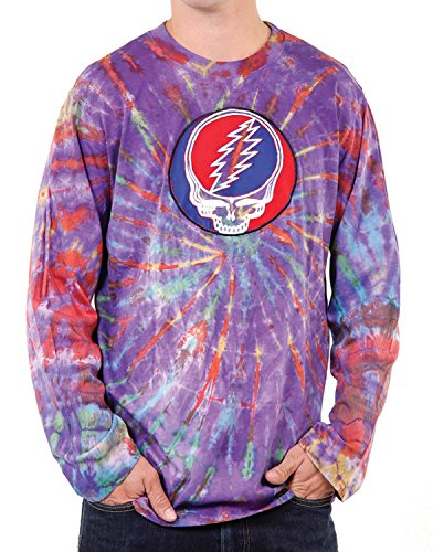 Jedzebel Long Sleeve Tie-Dyed Men's Steal Your Face