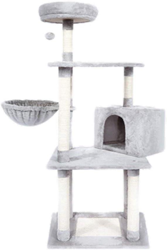 猫クライミングフレーム、大きな猫ボックスペットのおもちゃの猫。(ウッドカラー) (Color : Gray)