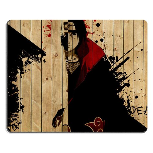 Naruto Itachi Uchina a Criminal Organization Mouse Pads Anime Game Manga Comic ACG Customized Made to Order Support Ready 9 7/8 Inch (250mm) X 7 7/8 Inch (200mm) X 1/16 Inch (2mm) High Quality Eco Friendly Cloth with Neoprene Rubber Woocoo Mouse Pad Desktop Mousepad Laptop Mousepads Comfortable Computer Mouse Mat Cute Gaming Mouse_pad