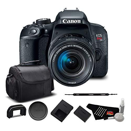 Canon EOS Rebel T7i Digital SLR Camera with 18-55mm Lens 1894C002 – Starter + Bundle For Sale