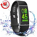 MorePro X-Core Fitness Activity Tracker Color Screen, Sleep Tracker Waterproof Health Watch with Heart Rate Blood Pressure Monitor, Step Calorie Counter Exercise Pedometer for Women Men (Black)