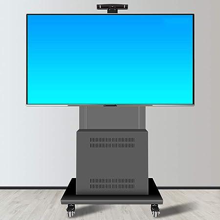 Xue-shelf Carros de TV Soportes de estantes de Almacenamiento de 40-85 Pulgadas de Altura Ajustable Universal de la Pantalla de TV Plana de la Carretilla, LED, LCD, OLED, Oficinas de Plasma, aulas: