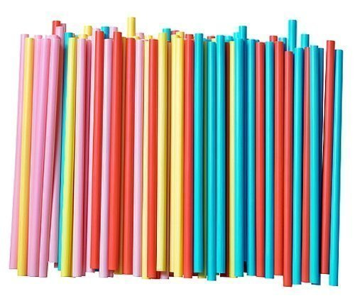 Assorted Colors Smoothie Straws, Pack of 100 (Drinking Straws)