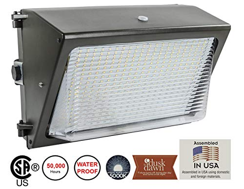 Lights of America 65 Watt Dusk to Dawn LED Wall Pack ()