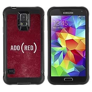Paccase / Suave TPU GEL Caso Carcasa de Protección Funda para - Text Language Ado Rustic Texture - Samsung Galaxy S5 SM-G900