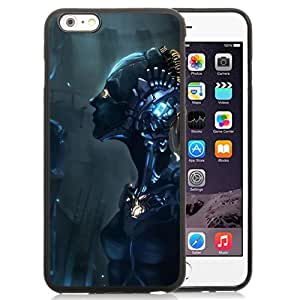 Beautiful And Unique Designed With Robot Cyborg Mechanism Girl For iPhone 6 Plus 5.5 Inch TPU Phone Case