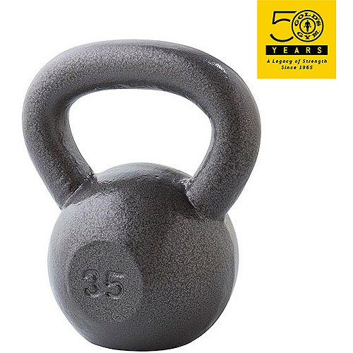Gold's Gym Kettlebell Gray 35#